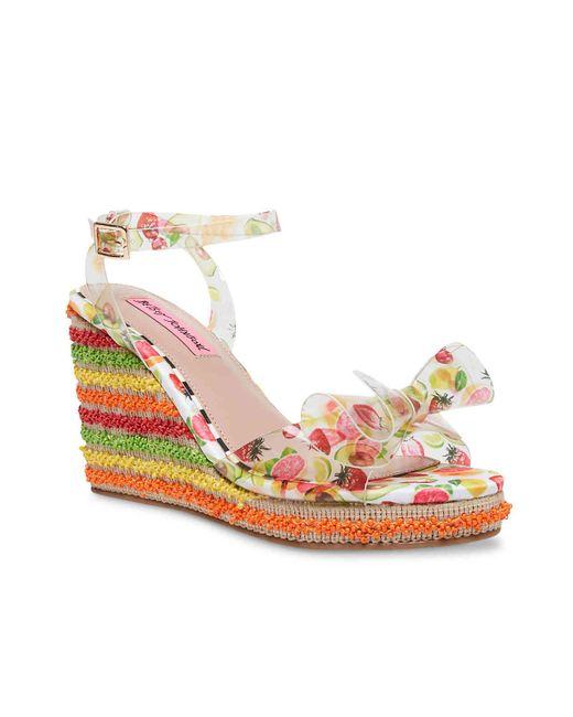Betsey Johnson Multicolor Elektra Wedge Sandal