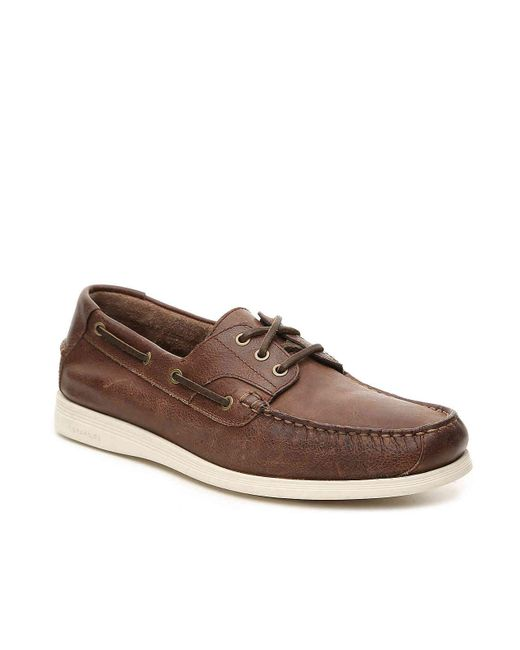 Cole Haan - Brown Harpswell Boat Shoe for Men - Lyst