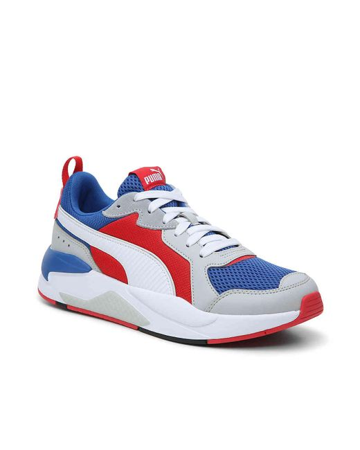 PUMA X-ray Sneaker in White/Blue/Red