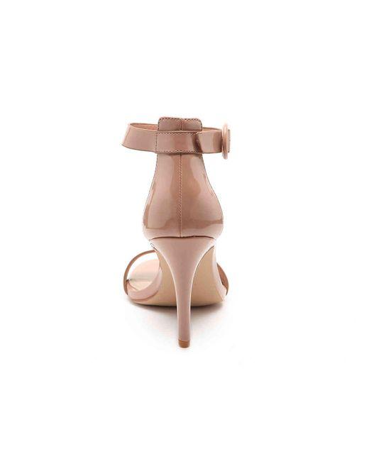Steve Madden Denim Born Sandal in Pink
