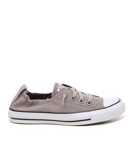 c0f40e413b0f ... Converse - Gray Chuck Taylor All Star Shoreline Slip-on Sneaker - Lyst  ...