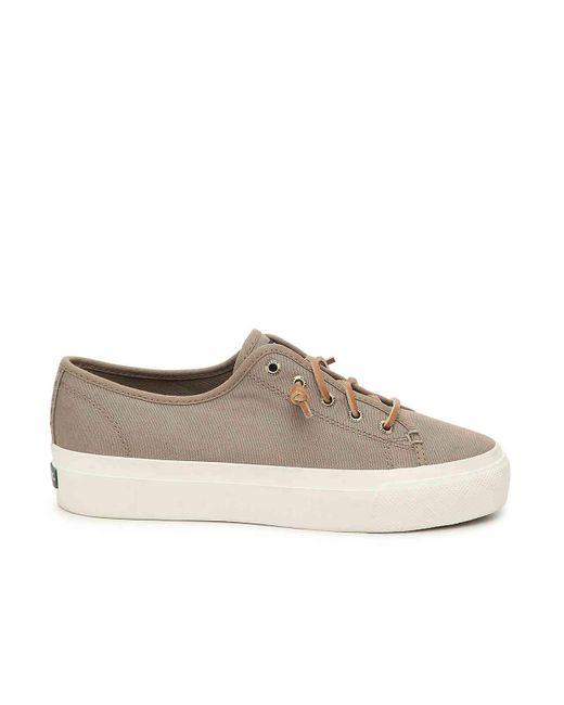 9e55ab32bf6 ... Sperry Top-Sider - Natural Cliffside Platform Slip-on Sneaker - Lyst ...