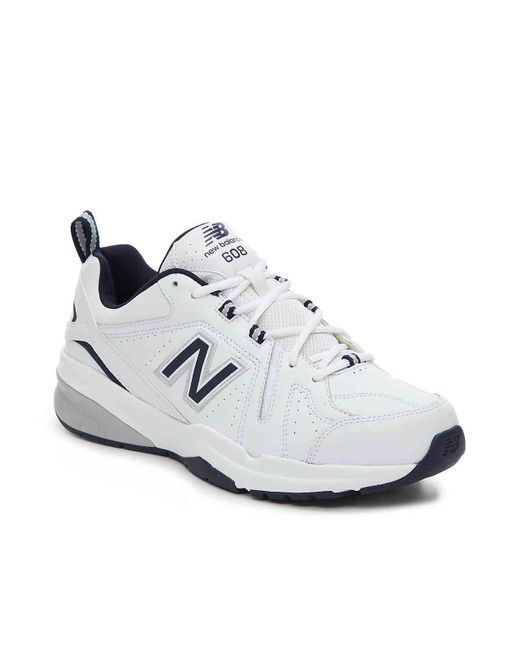 15a632732afe Lyst New Balance 608 V5 Training Shoe In White For Men