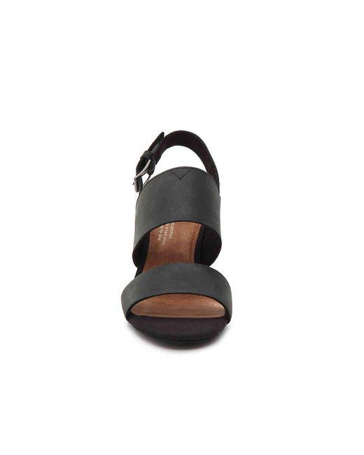 1aef57a7422 Lyst - TOMS Poppy (shade Suede linen) Women s Sandals in Black ...