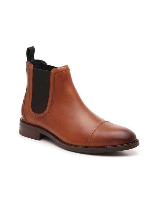 Cole Haan Brown Buckland Cap Toe Boot for men