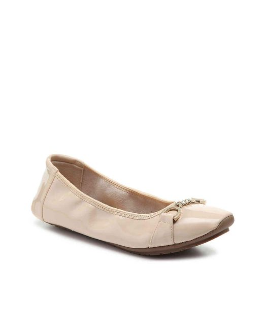 Me Too - Natural Brielle Ballet Flat - Lyst