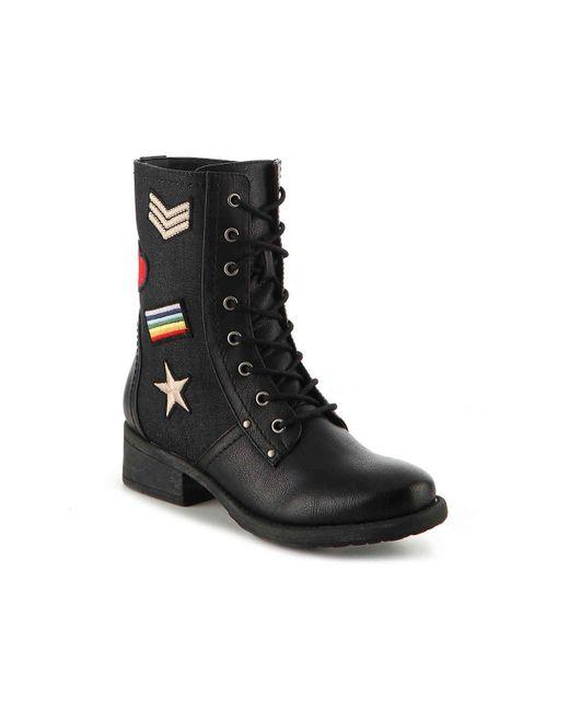 MIA - Black Nate Combat Boot - Lyst