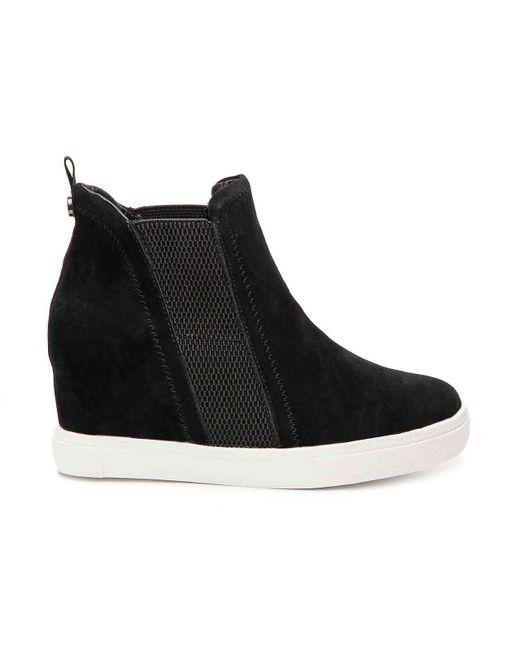 f574da37a6f ... Steve Madden - Black Leii Wedge Sneaker - Lyst ...