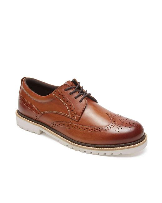 Rockport Brown Marshall Wingtip Oxford for men