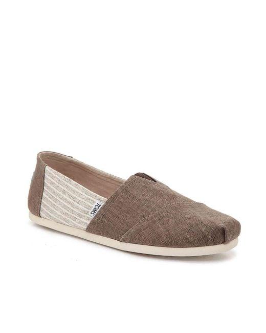 TOMS - Brown Alpargata Stripe Slip-on for Men - Lyst