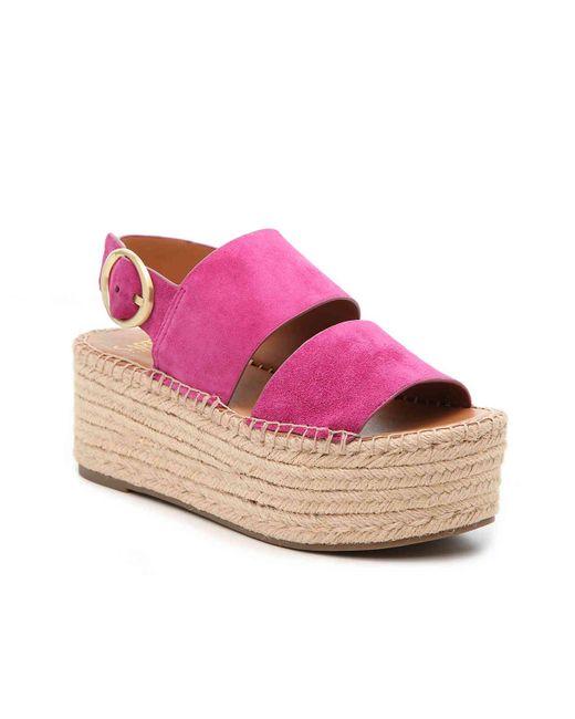 e4755e1b255 Women's Pink Mariana Espadrille Platform Sandal