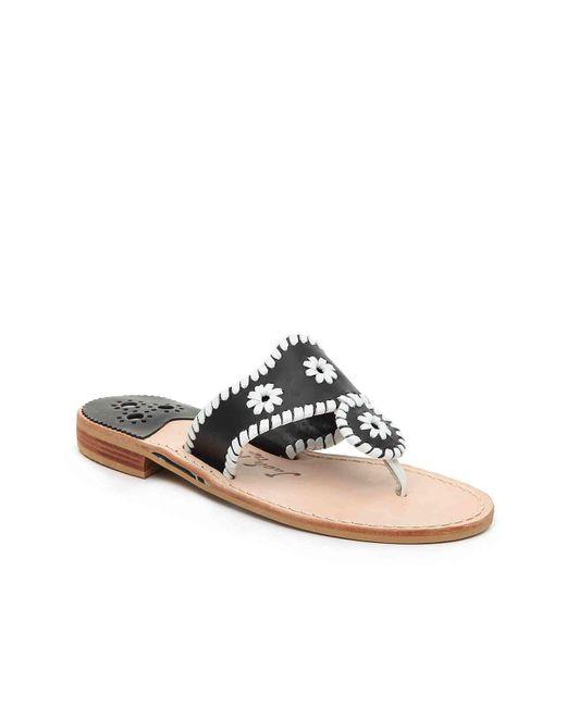 Jack Rogers - Black Palm Beach Sandals - Lyst