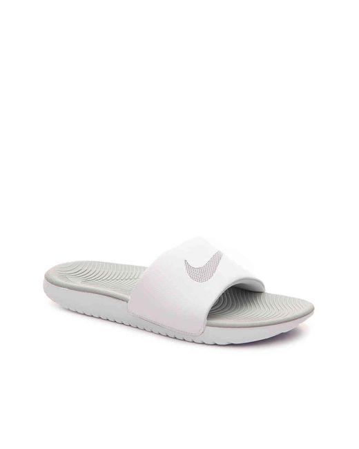 b5ba4914f Lyst - Nike Kawa Slide Sandal in White