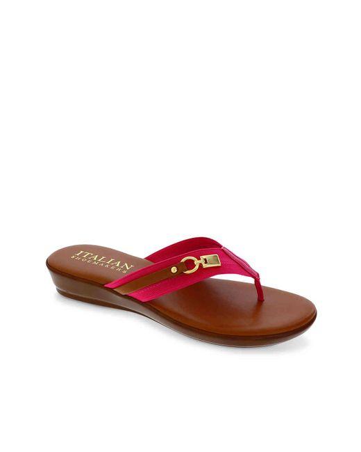 Italian Shoemakers Red Vale Wedge Sandal