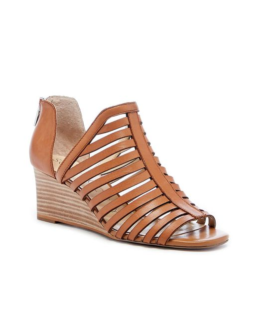 Sole Society Brown Serifyna Caged Demi Wedge
