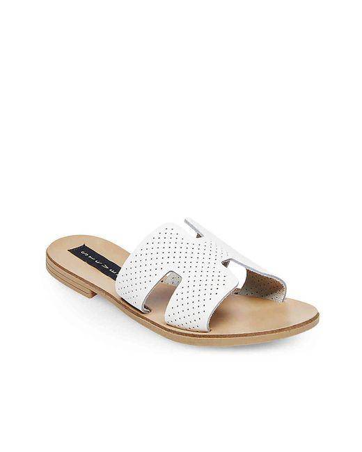 07d6db4ca27 ... Lyst Steven by Steve Madden - Greece Sandal (white Leather 1) Women s  Sandals ...