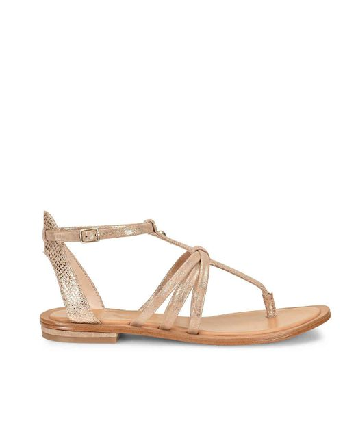 Isola Marica Distressed Foil Suede Sandals ox87orc