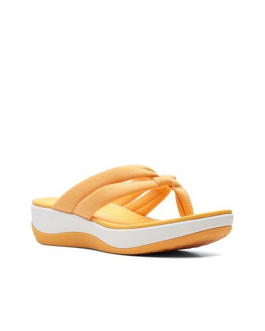 Clarks Yellow Arla Kaylie Sandal