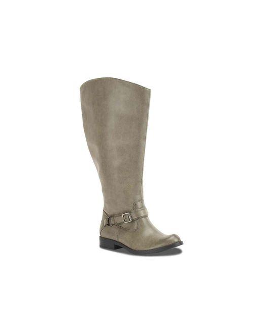 cba6212d2fb Women's Gray Quinn Extra Wide Calf Riding Boot