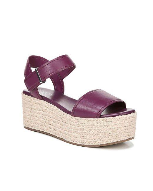 Franco Sarto Purple Ben Espadrille Platform Sandal