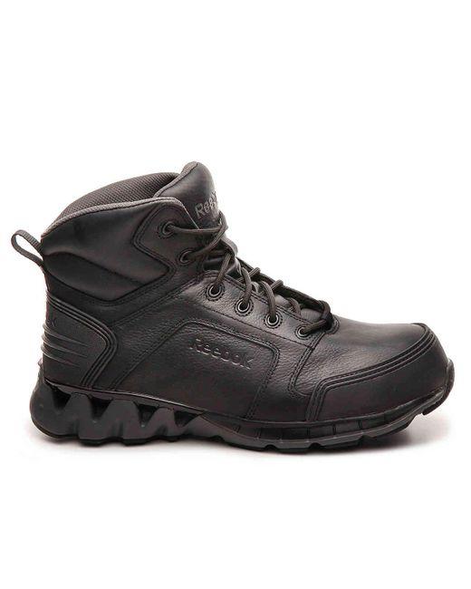 Reebok Leather Zigkick Work Boot in