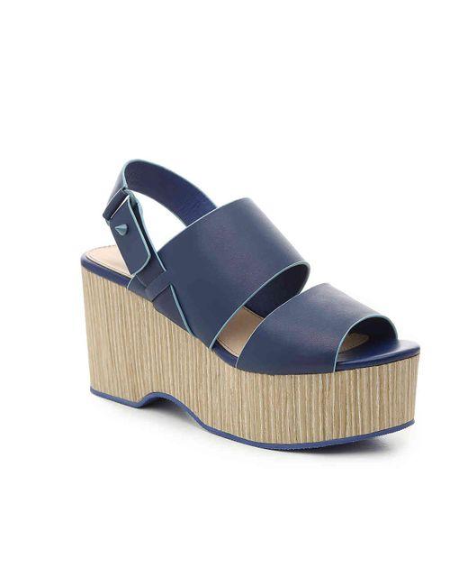Kelsi Dagger Brooklyn Blue Nashns Wedge Sandal