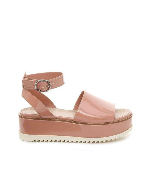 0a93bbbf13f ... ALDO - Pink Jadde Platform Sandal - Lyst ...