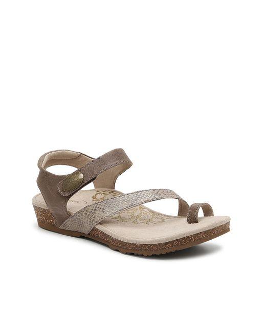 Aetrex Brown Georgia Sandal