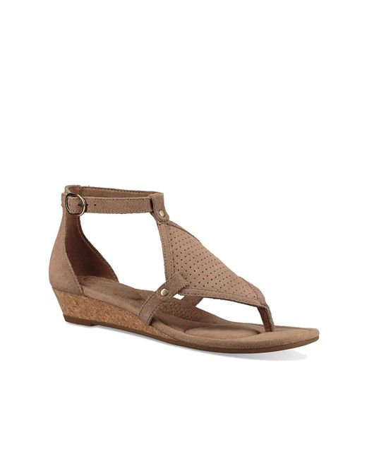 Ugg - Brown Briona Wedge Sandal - Lyst