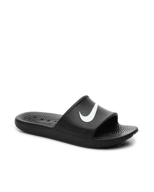 8ebd146c48c3 Lyst - Nike Kawa Shower Slide Sandal in Black for Men - Save 13%