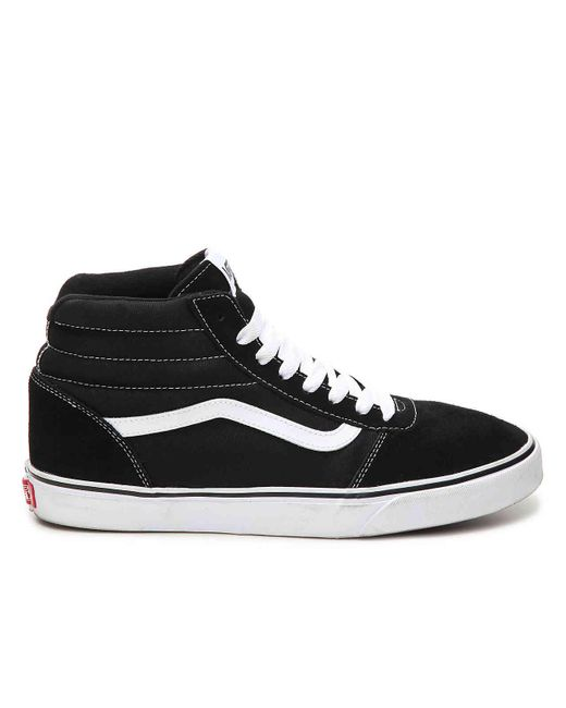4f238444ed ... Vans - Black Ward Hi Suede High-top Sneaker for Men - Lyst ...