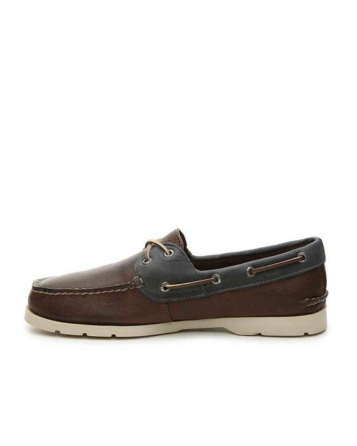 f285e5a343d ... Sperry Top-Sider - Brown Leeward Boat Shoe for Men - Lyst ...