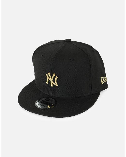 17d405c8c50338 KTZ - Black Mlb New York Yankees Gold Badge Snapback Hat for Men - Lyst ...