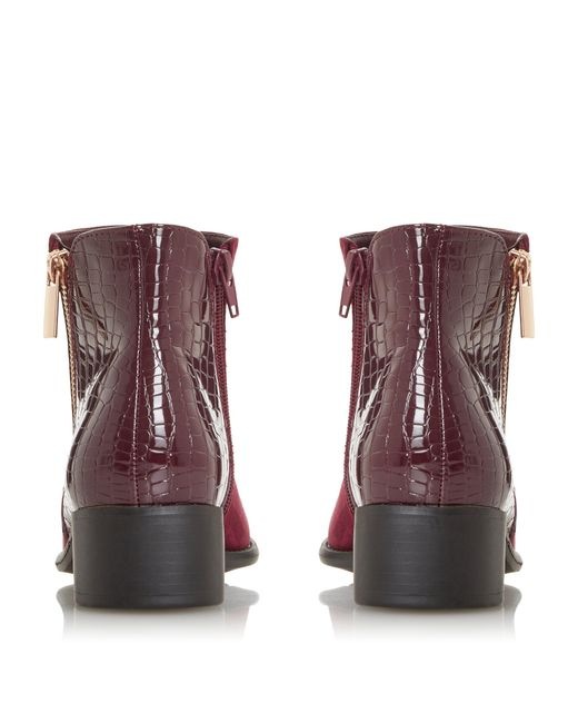 Dune Pera Mix Material Ankle Boots in