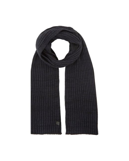 Dune Blue 'osterly' Ribbed Knit Scarf for men