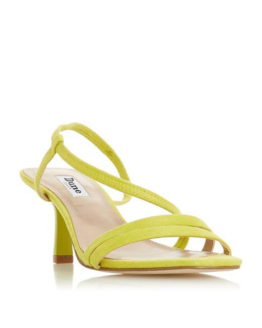 Dune Yellow Miso Open Toe Strap Sandal