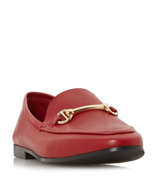 Dune Red Leather 'guiltt' Loafers