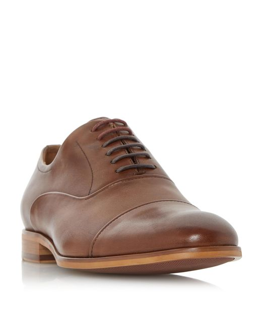 Dune | Brown Soft Leather Toecap Oxford Shoe for Men | Lyst