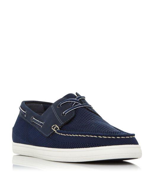 Dune Blue Bonavista Mesh Boat Shoe for men