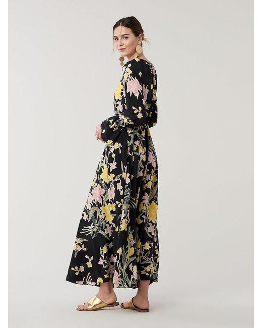 850503dd71 ... Diane von Furstenberg - Black Eloise Silk Crepe De Chine Maxi Faux-wrap  Dress ...
