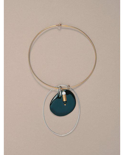 Diane von Furstenberg   Gold Wire Black Charm Necklace   Lyst