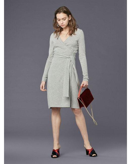 Ginia Cashmere Gowns Wrap Gown: Diane Von Furstenberg Linda Cashmere Knit Wrap Dress In