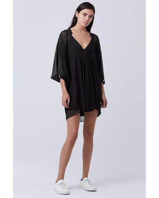 Diane von Furstenberg | Black Fleurette Silk Chiffon Kaftan Dress | Lyst