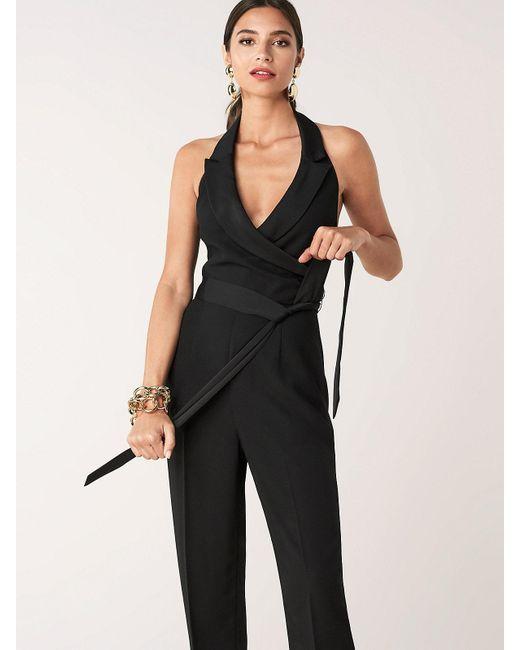 $428 Diane Von Furstenberg DVF Ireland Black Halter Jumpsuit