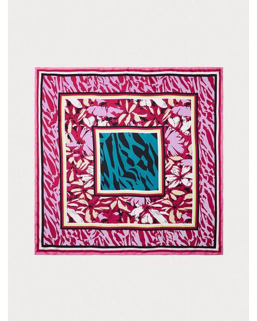Diane von Furstenberg Multicolor Jella Silk Square Scarf