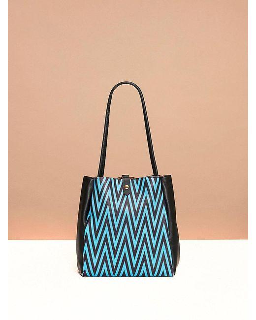 Diane von Furstenberg | Black Pleated Drawstring Bag | Lyst