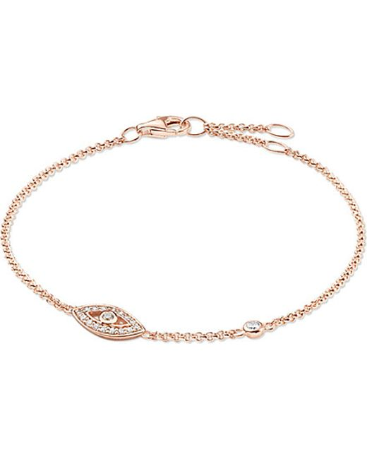 Thomas Sabo | Pink Fatima's Garden Rose Gold-plated And Zirconia-pavé Bracelet | Lyst