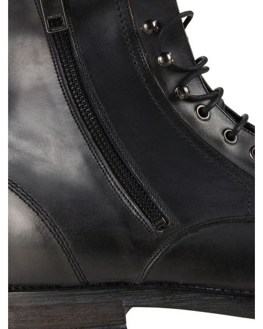 DIESEL   Black Lace-up Ankle Boots for Men   Lyst