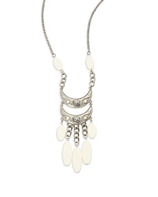 Catherine Stein Metallic Three-Row Pendant Necklace