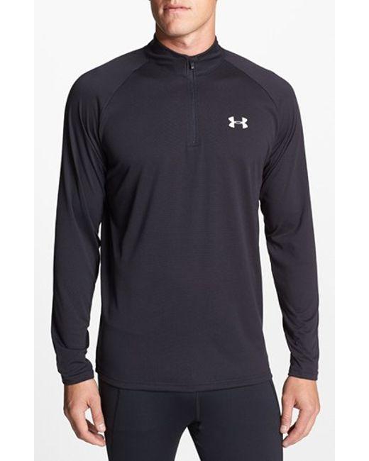 Under Armour | Black 'tech' Quarter Zip Pullover for Men | Lyst